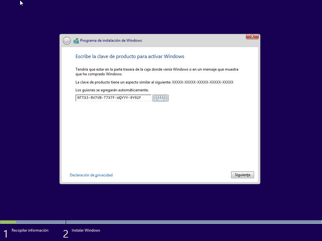 clave de producto windows 8.1 pro 32 bits español