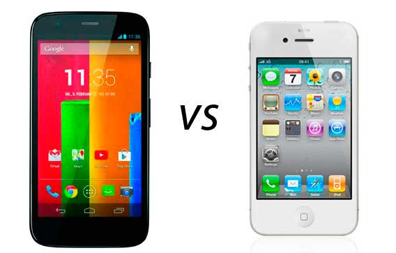 Photo of Comparativa: Motorola Moto G vs iPhone 4