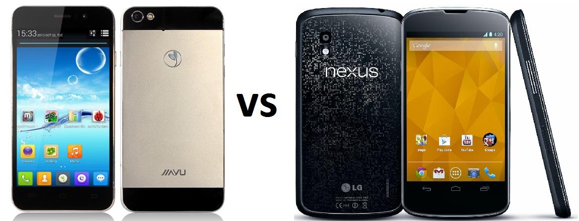 jiayu G5 vs Nexus 4