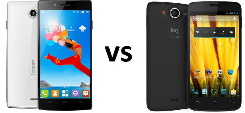 IOCEAN X7HD VS BQ AQUARIS 5 HD