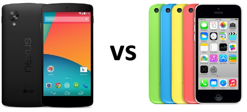 LG Nexus 5 vs iPhone 5c