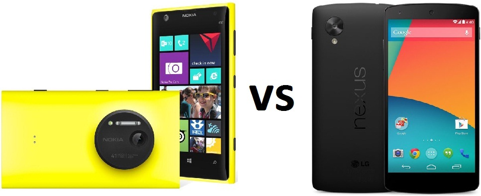 Nokia Lumia 1020 vs Nexus 5