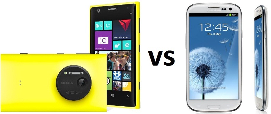 Nokia Lumia 1020 vs Samsung Galaxy S3