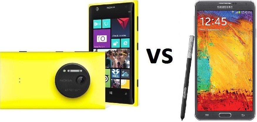 Nokia Lumia 1020 vs Samsung Galaxy note 3