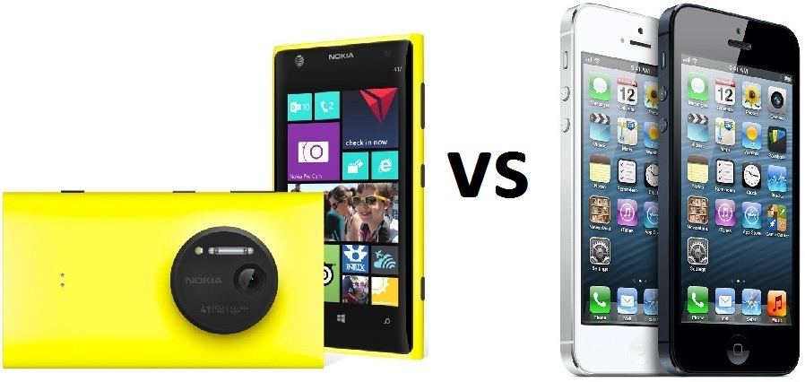 Nokia Lumia 1020 vs iPhone 5