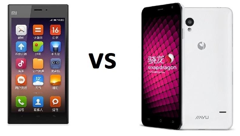 Xiaomi Mi 3 vs Jiayu S1