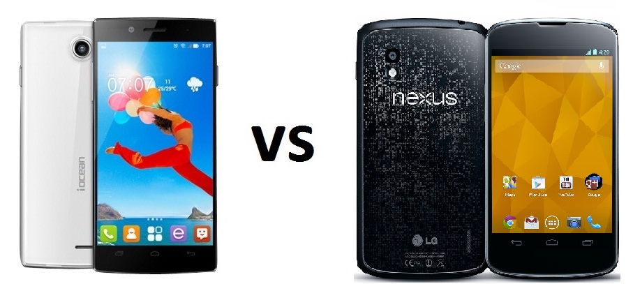 iOcean X7 HD vs LG Nexus 4