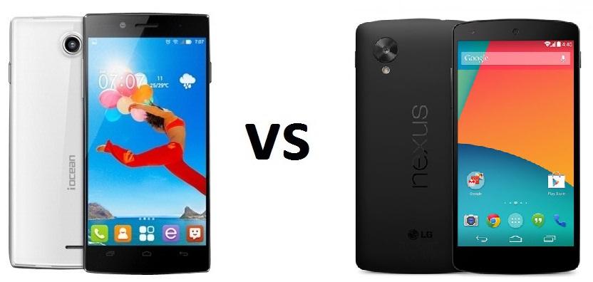 iOcean X7 HD vs LG Nexus 5