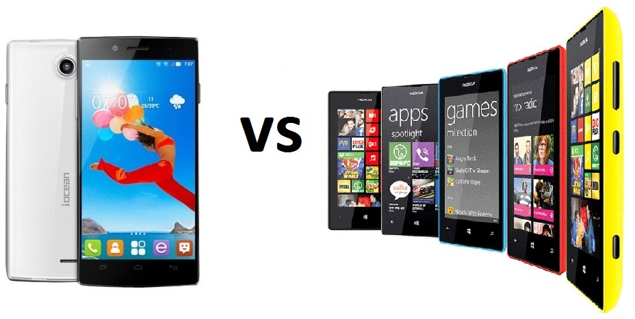 iOcean X7 HD vs Nokia Lumia 520