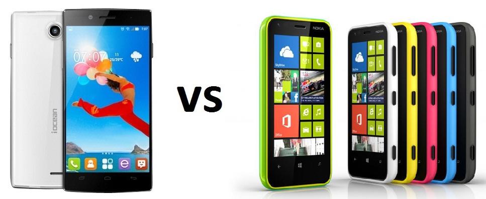 iOcean X7 HS vs Nokia Lumia 620