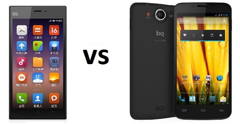 Xiaomi Mi3 vs BQ Aquaris 5 HD