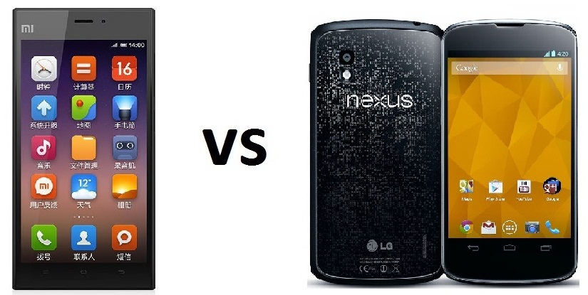 Xiaomi Mi3 vs LG Nexus 4