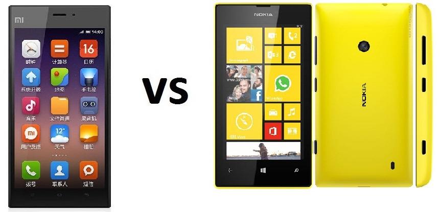 Xiaomi Mi3 vs Nokia Lumia 520