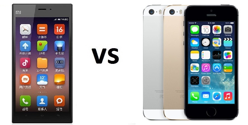 Xiaomi Mi3 vs iPhone 5s