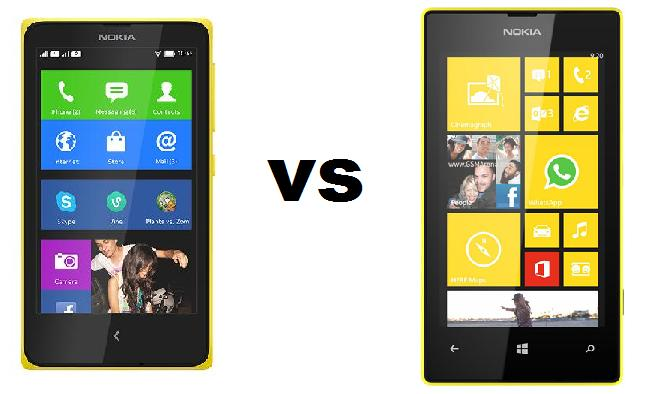 Nokia X vs Nokia Lumia 520