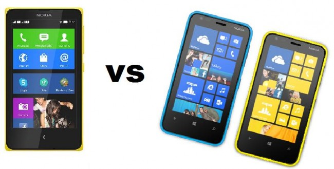 Nokia X vs Nokia Lumia 620