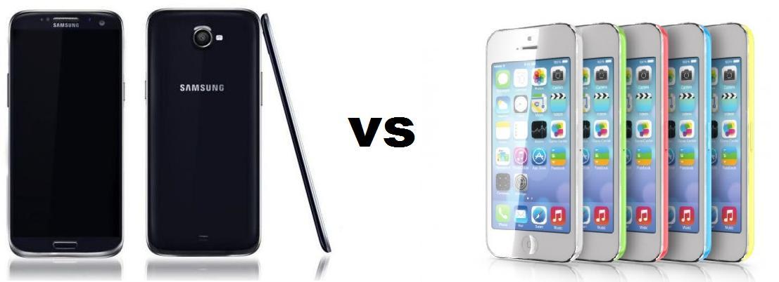 SAMSUNG GALAXY S5 VS IPHONE 5C