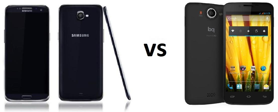 SAMSUNG GALAXY S5 vs BQ Aquaris 5 HD