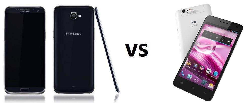 SAMSUNG GALAXY S5 vs BQ Aquaris 5.7