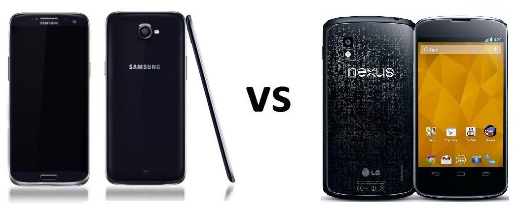 SAMSUNG GALAXY S5 vs Nexus 4