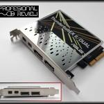 Tarjeta y salidas de conexiones ThunderboltEX II/Dual