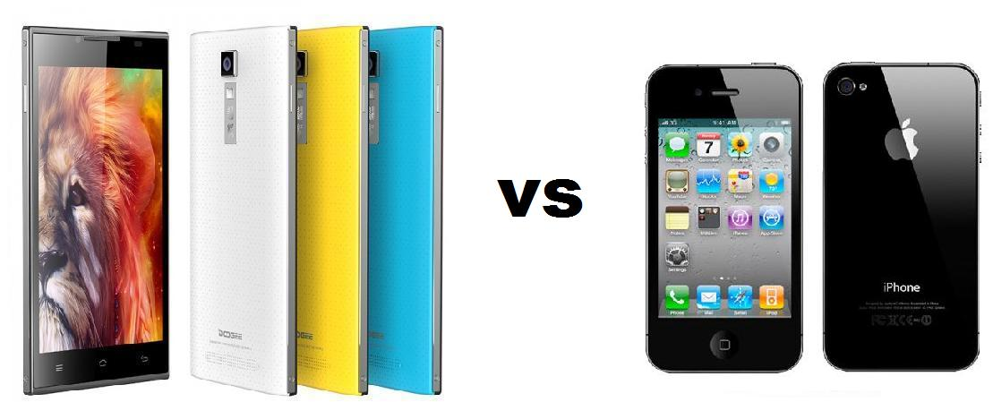 Photo of Comparativa: Doogee Turbo DG 2014 vs iPhone 4