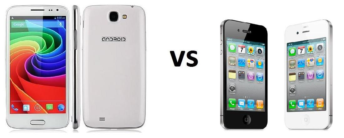DOOGEE VOYAGER DG 300 VS IPHONE 5