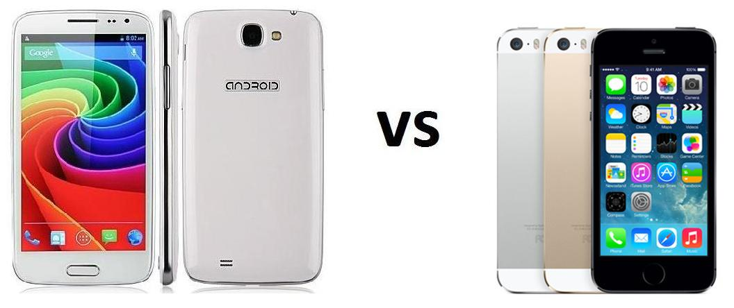 DOOGEE VOYAGER DG 300 VS IPHONE 5S