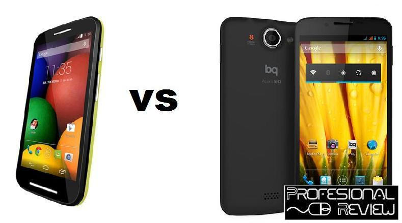 MOTO E VS BQ AQUARIS 5 HD