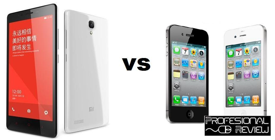 XIAOMI REDMI NOTE VS IPHONE 5