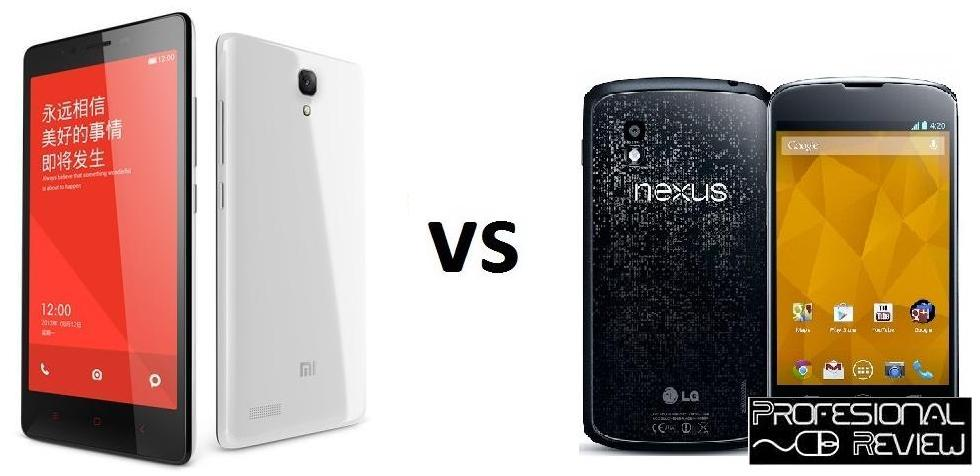 XIAOMI REDMI NOTE VS LG NEXUS 4