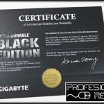Certificado Black Edition