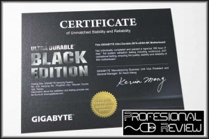 Certificado Black Edition