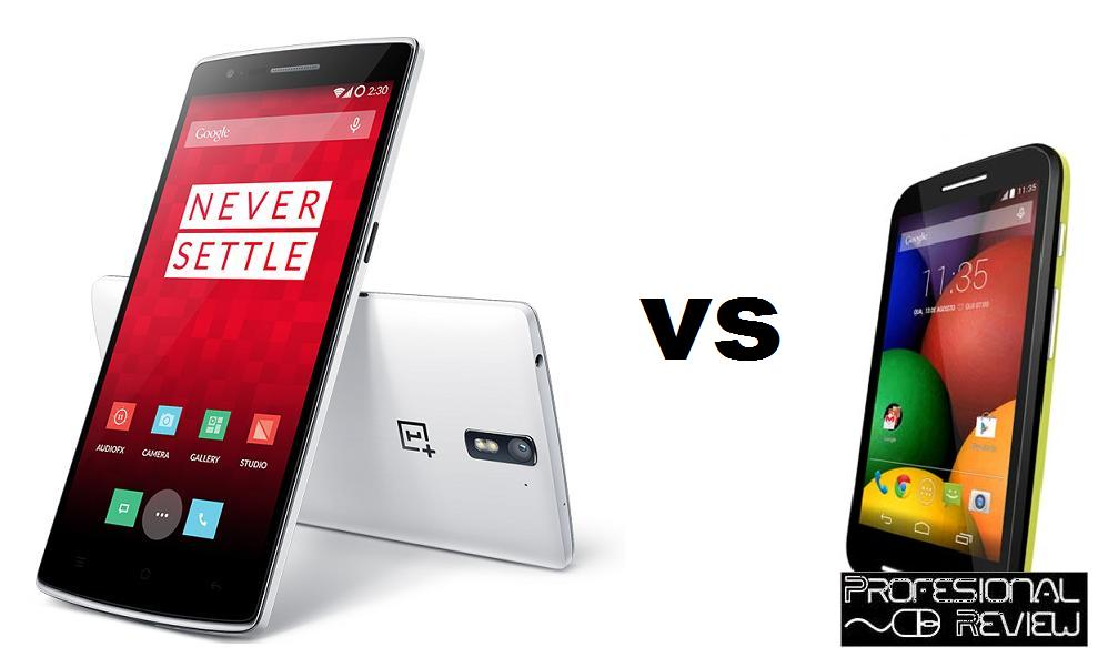 ONE PLUS ONE VS MOTOROLA MOTO E