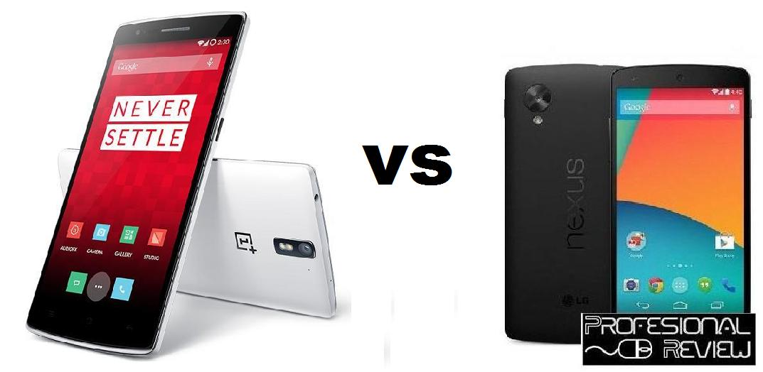 Comparativa: Oneplus One vs Google Nexus 5