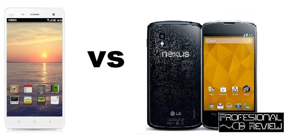 XIAOMI MI 4 VS GOOGLE NEXUS 4
