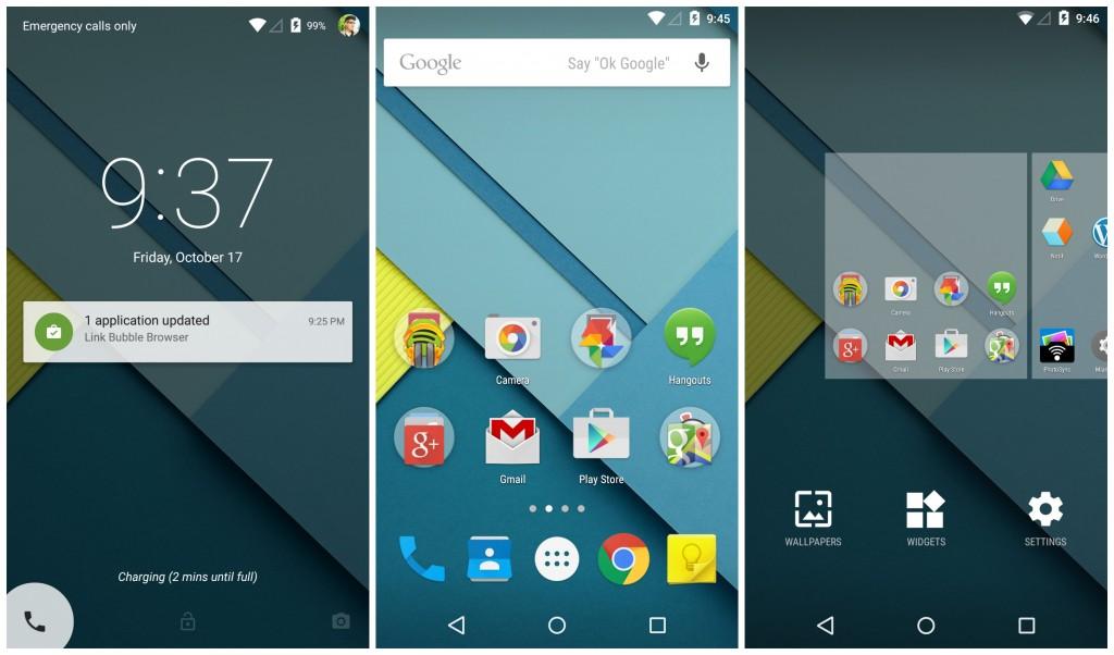 Android-5.0-Lollipop-lockscreen-homescreen