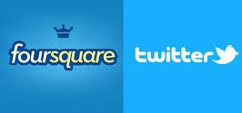 Twitter y fourquare