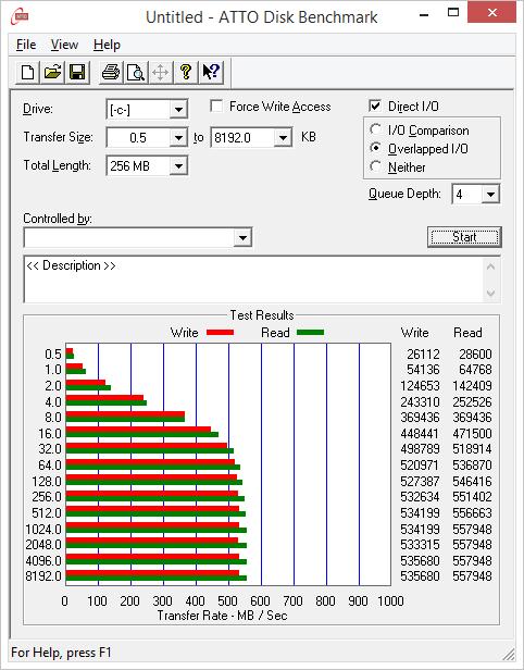 850 EVO 1TB ATTO
