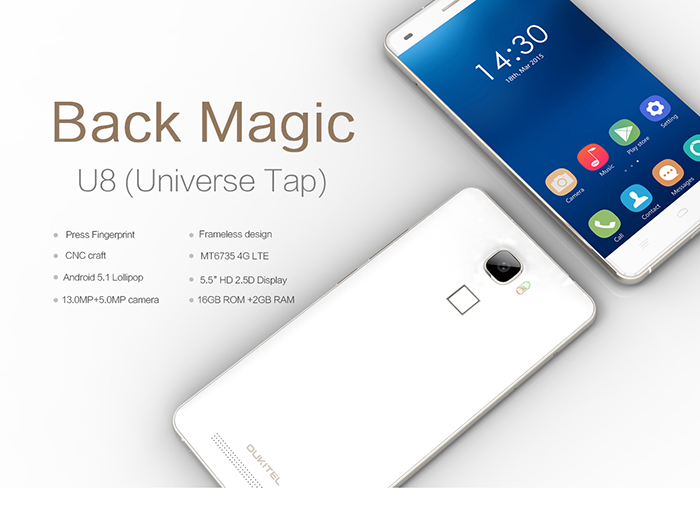 Photo of OUKITEL U8 El primer móvil con Android 5.1 en Gearbest