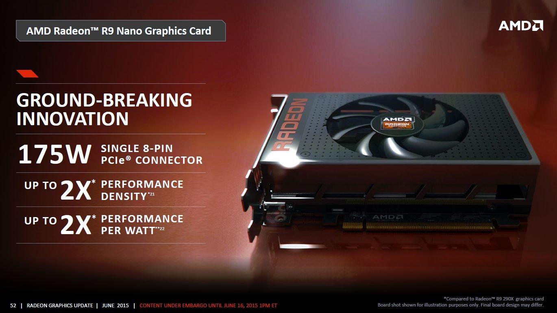 Photo of La AMD Radeon R9 Fury Nano tendrá solo un conector de 8 pines
