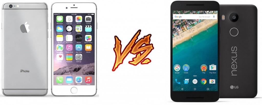 iphone 6s vs nexus 5x imagen