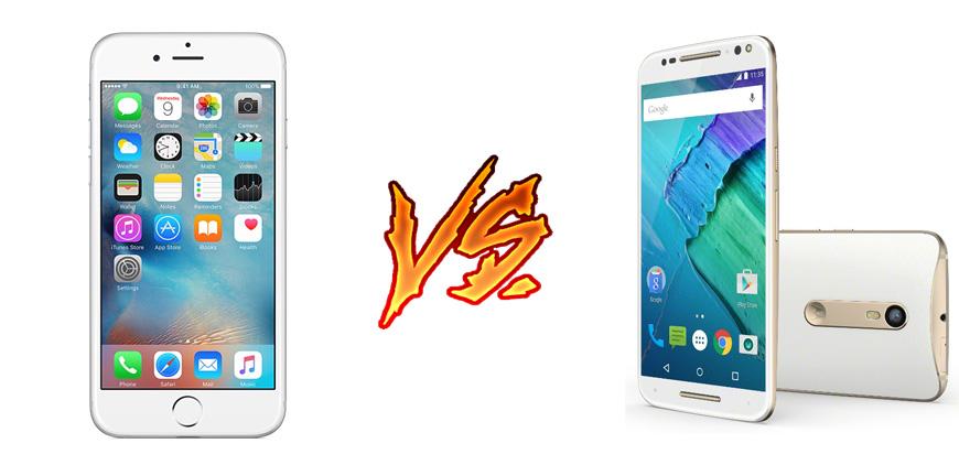 Photo of iPhone 6S vs Moto X Style