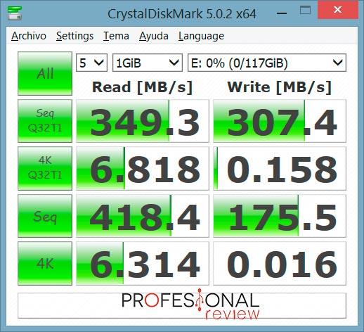 HyperX Savage USB CrystalDiskMark