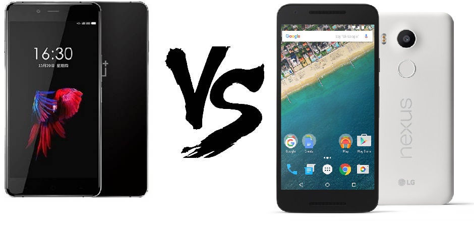 nexus 5x-vs-one-plus-x