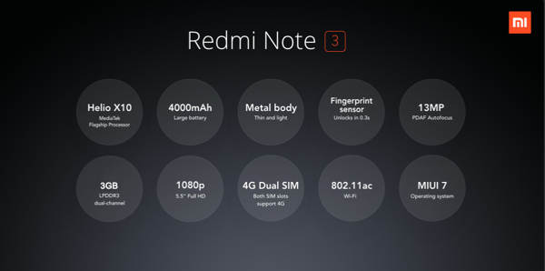 xiaomi redmi note 3 b
