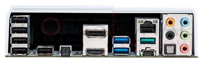 ASUS Sabertooth Z170 S conexion trasera