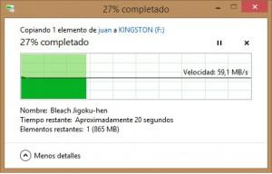 Copiado SSD a Pendrive
