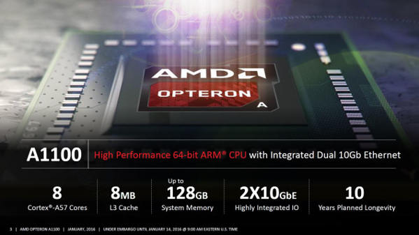 AMD Opteron A1100 Series a