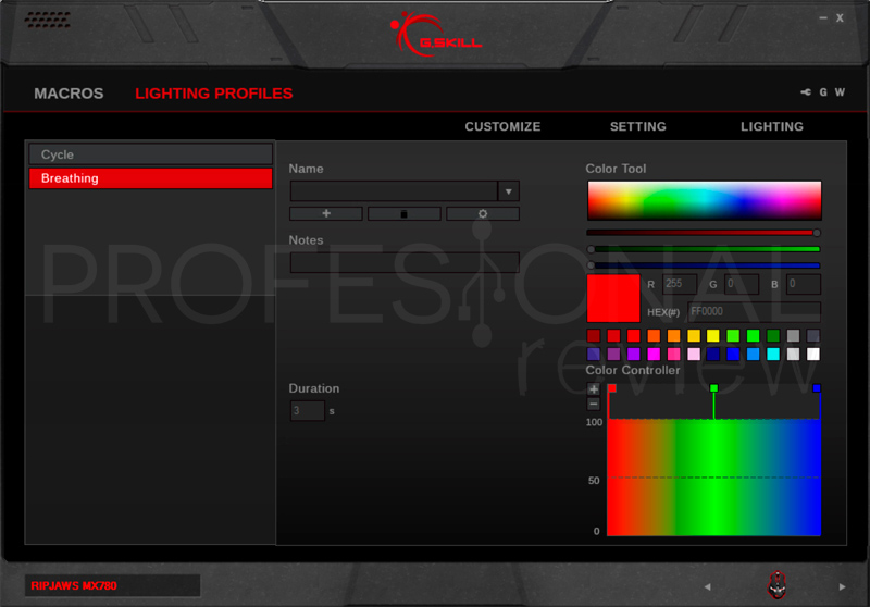 G.Skill Ripjaws MX780 software